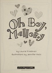 Cover of: Oh boy, Mallory