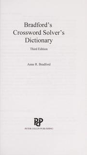 Cover of: Bradford's crossword solver's dictionary