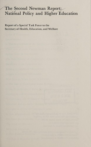 The Second Newman Report by Education Health, Welfare Department