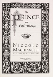 Cover of: The prince and other writings