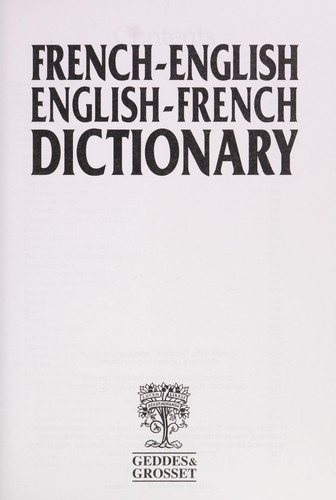 French-English/English-French Dictionary by