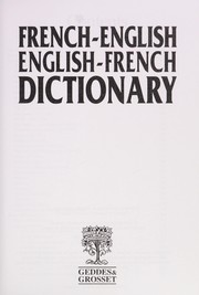 Cover of: French-English/English-French Dictionary |