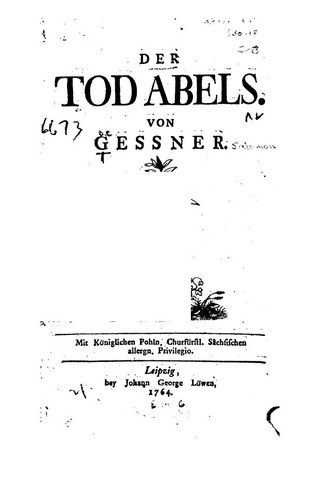Der Tod Abels by Salomon Gessner