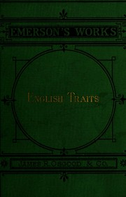 Cover of: English traits