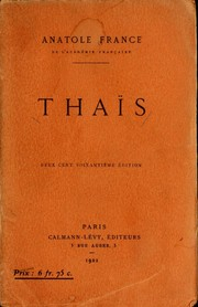Cover of: Thaïs