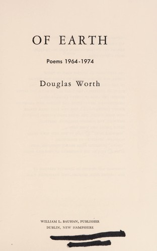 Of earth by Douglas Worth