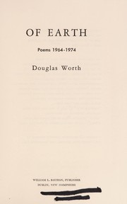 Cover of: Of earth | Douglas Worth
