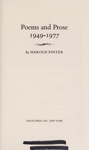 Cover of: Poems and prose, 1949-1977