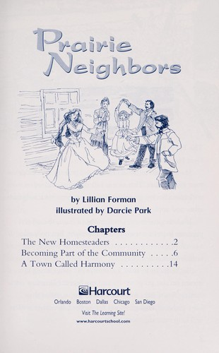 Prairie Neighbors (Grade 4 Advanced-Level Collection) by Lillian Forman