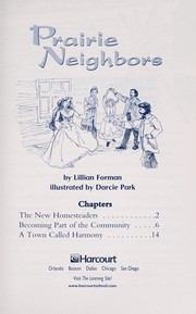 Cover of: Prairie Neighbors (Grade 4 Advanced-Level Collection) | Lillian Forman