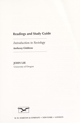 Readings and study guide by John Lie