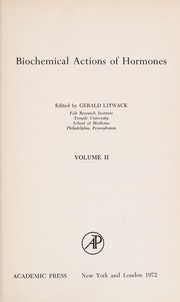 Cover of: Biochemical Actions of Hormones | Gerald Litwack