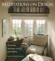 Cover of: Meditations on design
