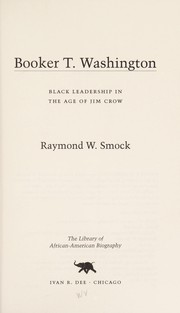 Cover of: Booker T. Washington | Raymond Smock