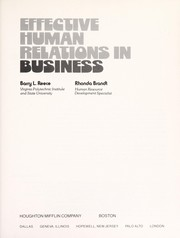 Cover of: Effective human relations in business