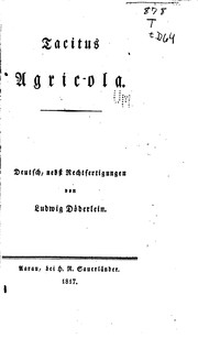 Cover of: Agricola