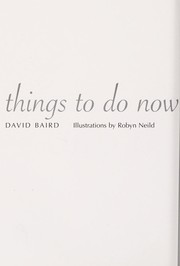 Cover of: Things to Do Now That You're a Dad (Things to Do...) | David Baird