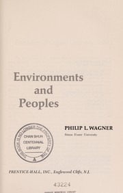 Cover of: Environments and peoples
