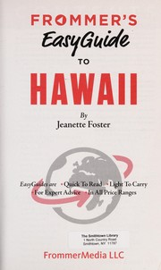 Cover of: Frommer's 2014 easyguide to Hawaii | Jeanette Foster