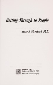Cover of: Getting through to people