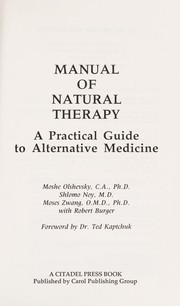 Cover of: The Manual of Natural Therapy | Moshe Olshevsky