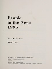 Cover of: People in the News 1995 (People in the News) | David Brownstone