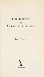 Cover of: The keeper of Absalom's Island | Tom Nestor