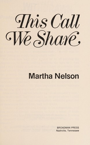 This call we share by Martha Nelson