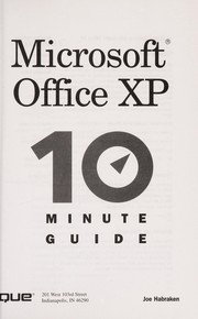 Cover of: Microsoft Office XP 10 minute guide