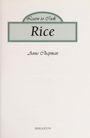 Cover of: Learn to Cook Rice |