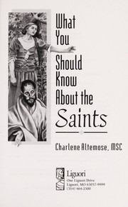 Cover of: What you should know about the saints