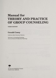 Cover of: Manual for Theory and Practice of Group Counseling