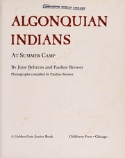 Cover of: Algonquian Indians at summer camp
