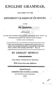 English grammar by Lindley Murray