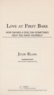 Cover of: Love at first bark | Julie Klam