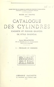 Cover of: Catalogue des cylindres, cachets et pierres gravées de style oriental