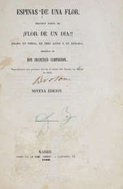 Cover of: Espinas de una flor