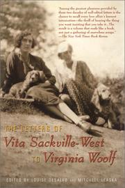 Cover of: The letters of Vita Sackville-West to Virginia Woolf