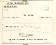 Cover of: Upjohn