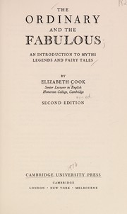 Cover of: The ordinary and the fabulous | Cook, Elizabeth.