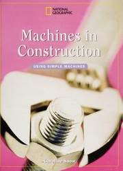 Cover of: Machines in Construction | Caroline Snow