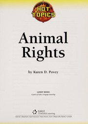 Cover of: Animal rights | Karen D. Povey