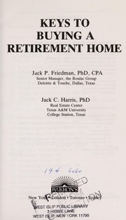 Cover of: Keys to buying a retirement home