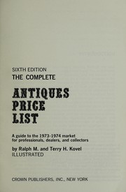 Cover of: The complete antiques price list