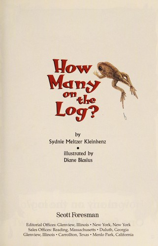 How Many on the Log? by Sydnie Meltzer Kleinhenz