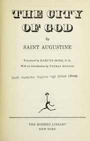 Cover of: The city of God | Augustine of Hippo