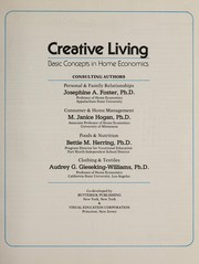 Cover of: Creative living | consulting authors, Josephine A. Foster ... [et al.].