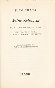 Cover of: Wilde Schwa˜ne