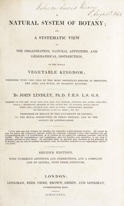 Cover of: A natural system of botany