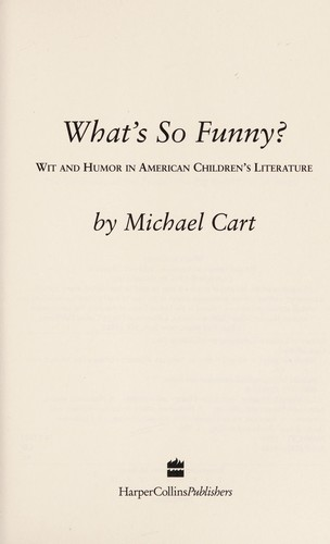 What's so funny? by Michael Cart